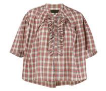 Rita ruffled plaid blouse