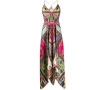 Gemustertes Kleid mit schmalen Trägern