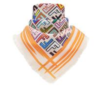 geometric logo square scarf