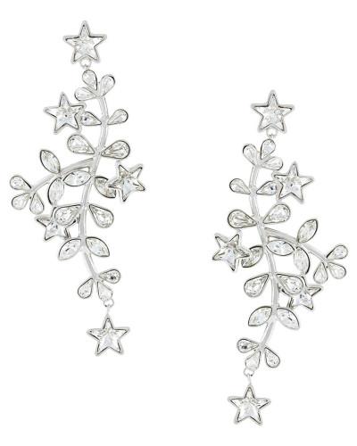 crystal vine and star earrings
