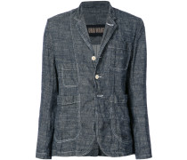 woven button up jacket