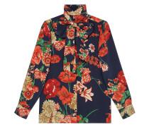 'Spring Bouquet' Seidenhemd