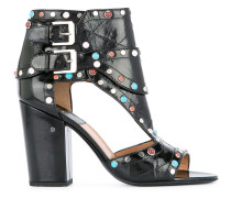 studded rush sandals