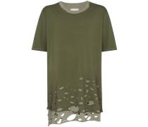 Oversized-T-Shirt in Distressed-Optik