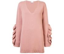 Pullover mit gerüschten Details