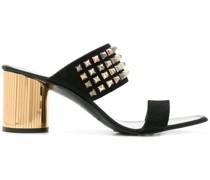 studded embellished heel sandals