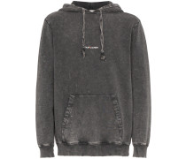 Kapuzenpullover in Distressed-Optik