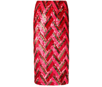 P.A.R.O.S.H. zig-zag sequined skirt