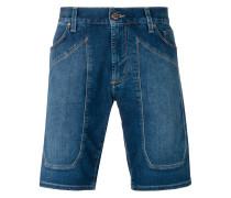 Jeans-Shorts mit Einsätzen