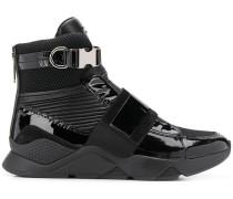 High-Top-Sneakers mit Lackledereinsätzen