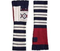 Handschuhe mit geometrischem Muster