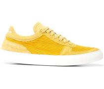 Sneakers mit Cord-Einsatz