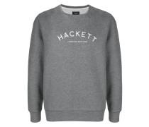 Meliertes Sweatshirt mit Logo-Print