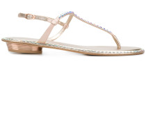 sequin embellished sandals