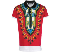 novelty print polo shirt