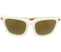 Sonnenbrille mit dickem Rahmen