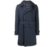 Zweireihiger Mantel mit Gürtel