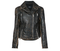 Bikerjacke im Used-Look