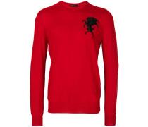 Pullover mit Löwenstickerei