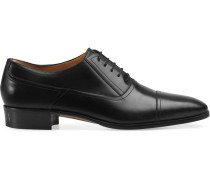 Leather lace-up shoe