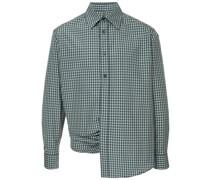 Drapiertes Hemd mit Schlitz