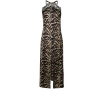 lace trim tiger stripe camisole dress