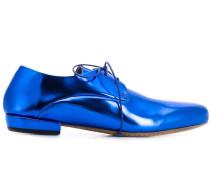 Derby-Schuhe im Metallic-Look