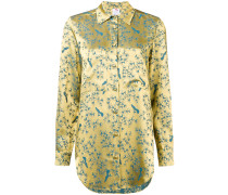 bird print sheen shirt