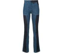 Bootcut-Jeans mit Kontrasteinsätzen