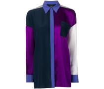 Oversized-Hemd in Colour-Block-Optik