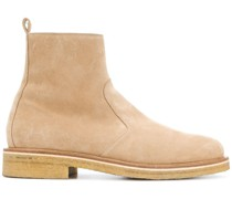 Zipped Boots With Crepe Sole