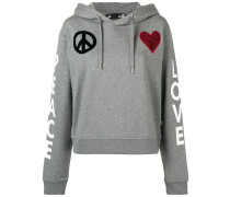 'Peace and Love' Kapuzenpullover