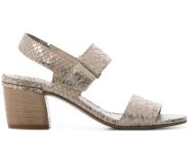 lizard skin effect sandals