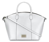 Abgerundete Metallic-Handtasche