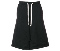 drawstring wide leg shorts