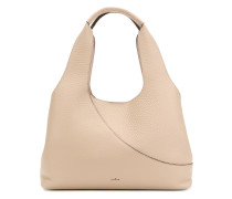 elongated grained tote bag