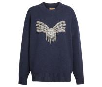 Crystal-embellished Merino Wool Sweater