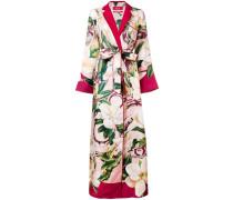 Kimonokleid mit Blumenmuster