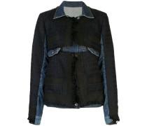 Jeansjacke im Hybrid-Look