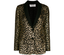 cheetah sequinned blazer jacket