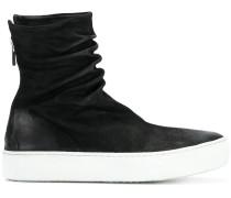 zipped hi-top sneakers