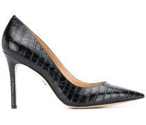 Hazel crocodile-effect pumps