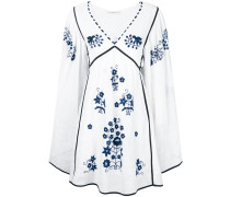 embroidered bohemian style dress