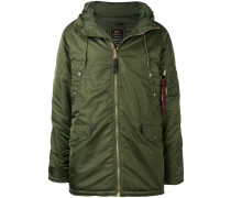 front zip hooded coat