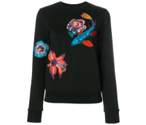 Ocean embroidery sweatshirt