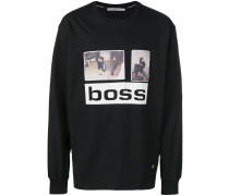 "Sweatshirt mit ""Boss""-Print"