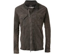 creased asymmetric jacket
