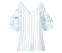 Gestreiftes Hemd mit gerüschten Details