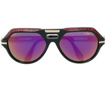 leather detail oversize sunglasses