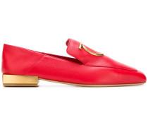 Loafer mit Metallic-Absatz